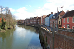 View from Fye Bridge Norwich