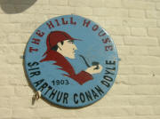 Plaque on wall of Hill House pub