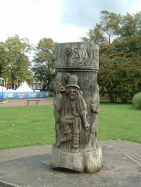 Woodcarving dedicated to Will Kemp