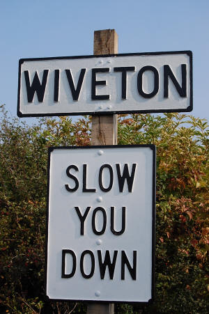 Wiveton Traffic Sign